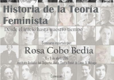 Cartel curso Rosa Cobo